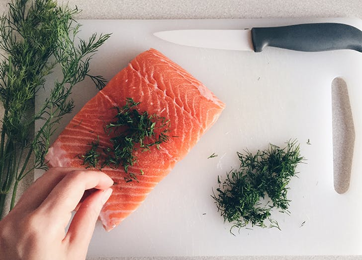 boxing instructor food diary salmon