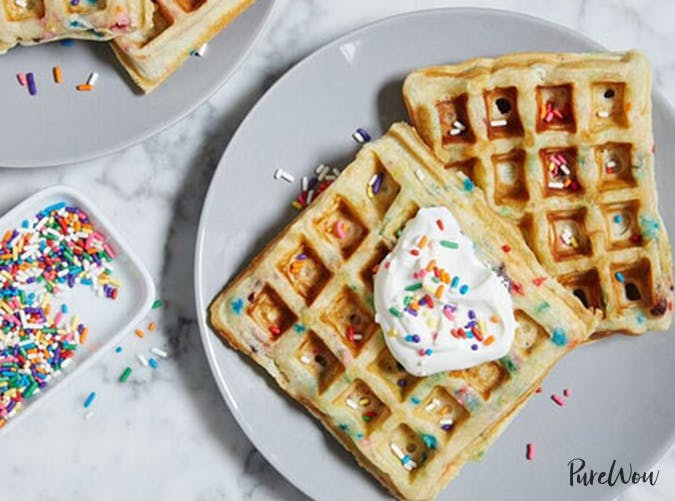 cake batter waffles valentines day breakfast recipes