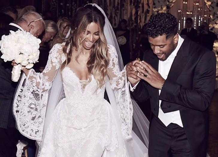 celeb wedding ciara russell