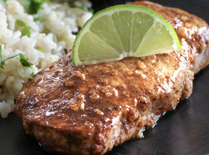 clean eating garlic lime pork chops recipe