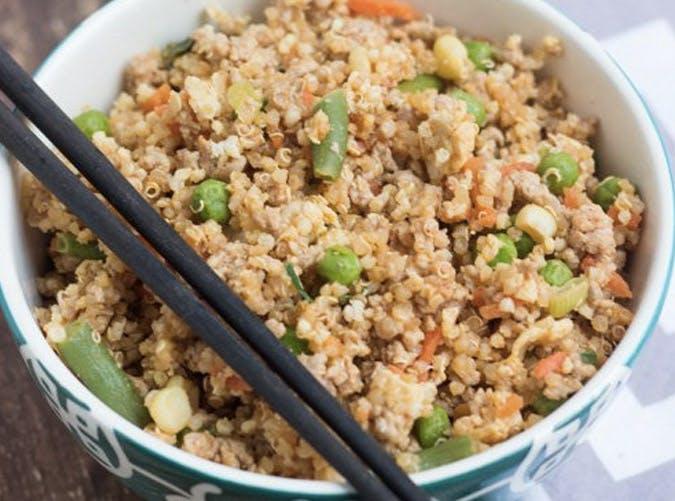 clean eating pork quinoa fried rice recipe