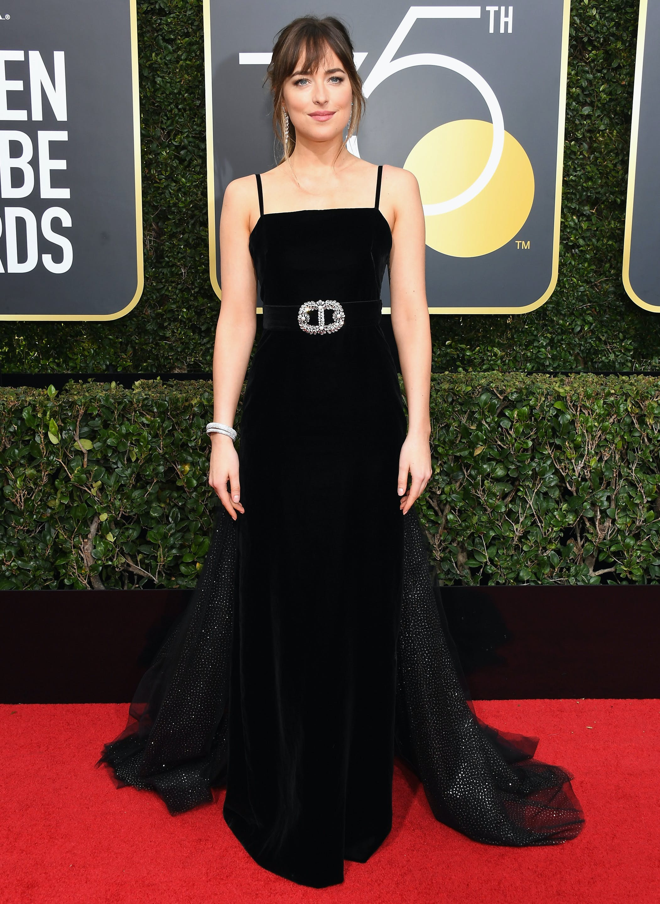 dakota johnson 2018 golden globes red carpet1