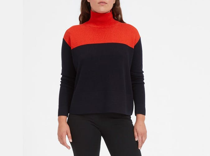 everlane colorblock sweater