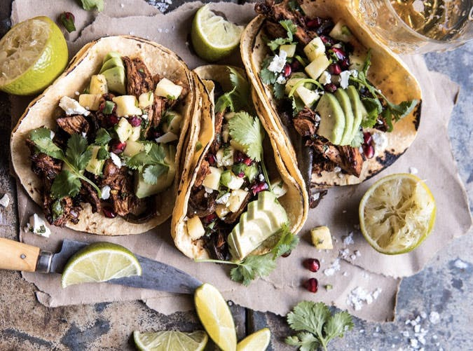 fastest instant pot spicy pineapple chicken tacos recipe
