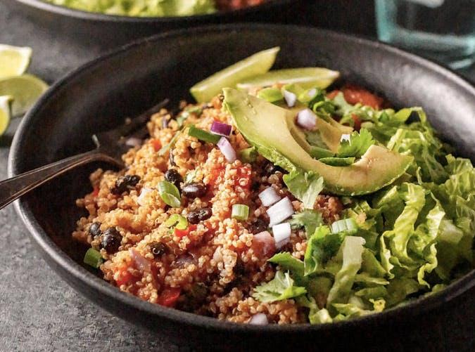 fastest instant pot vegan quinoa burrito bowls recipe