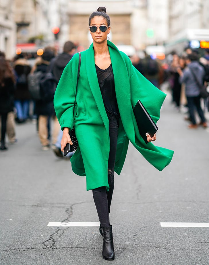 february outfits green coat