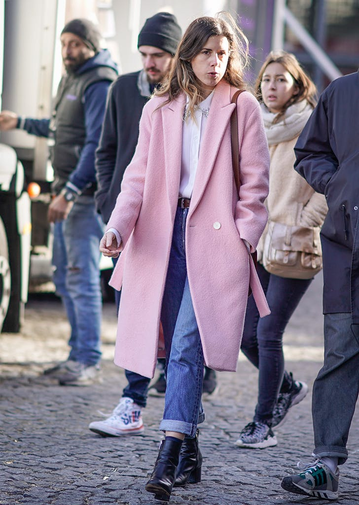 february outfits pink coat