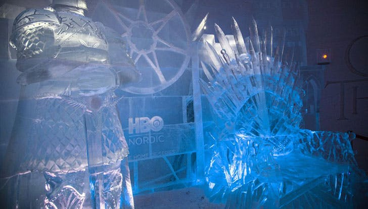 game of thrones ice hotel iron chair