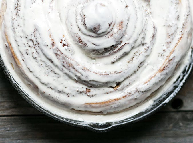 giant cinnamon roll skillet breakfast recipe