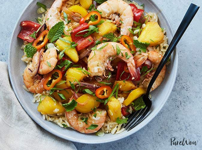 ginger pineapple shrimp stir fry