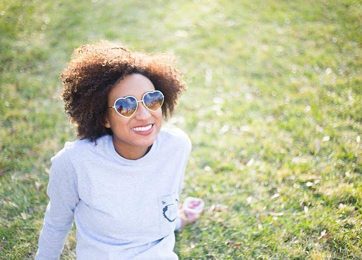 girl wearing sunglasses outside vitamin d