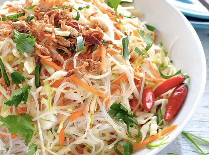 gluten free asian vermicelli salad