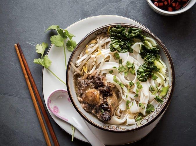 gluten free instant pot ho fun noodle soup recipe