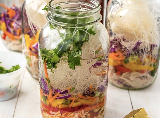 gluten free mason jar instant noodle recipe