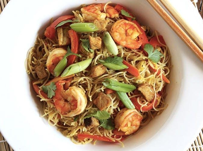 gluten free spicy singaporean noodles Recipe