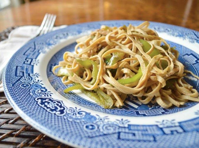 gluten free spicy tofu noodles With chicken Recipe