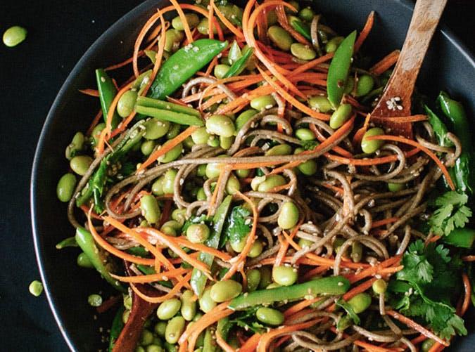 gluten free sugar snap pea soba noodles recipe