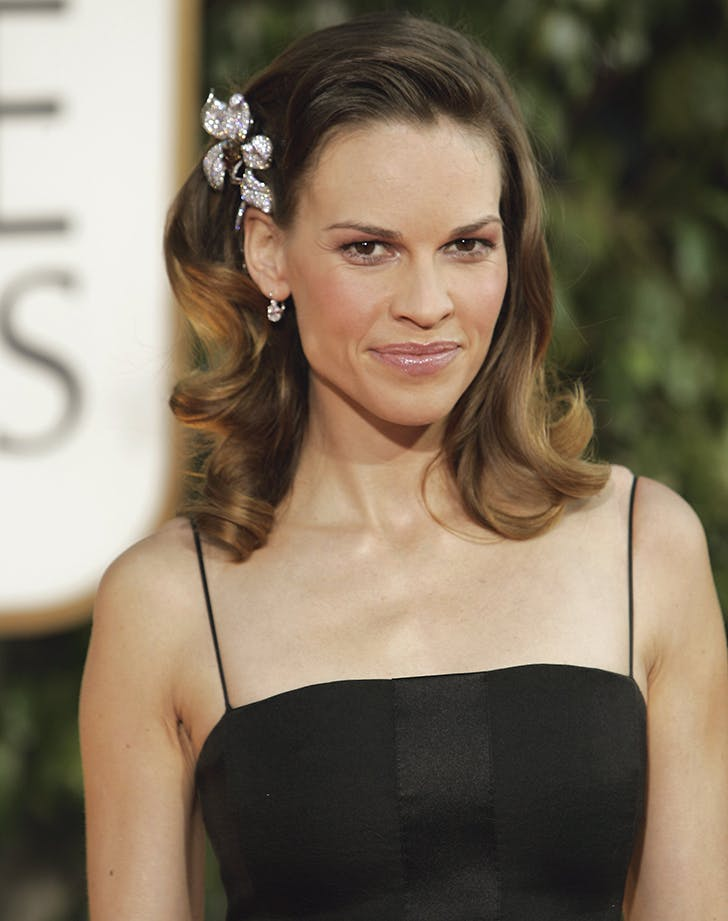 golden globes beauty hilary swank