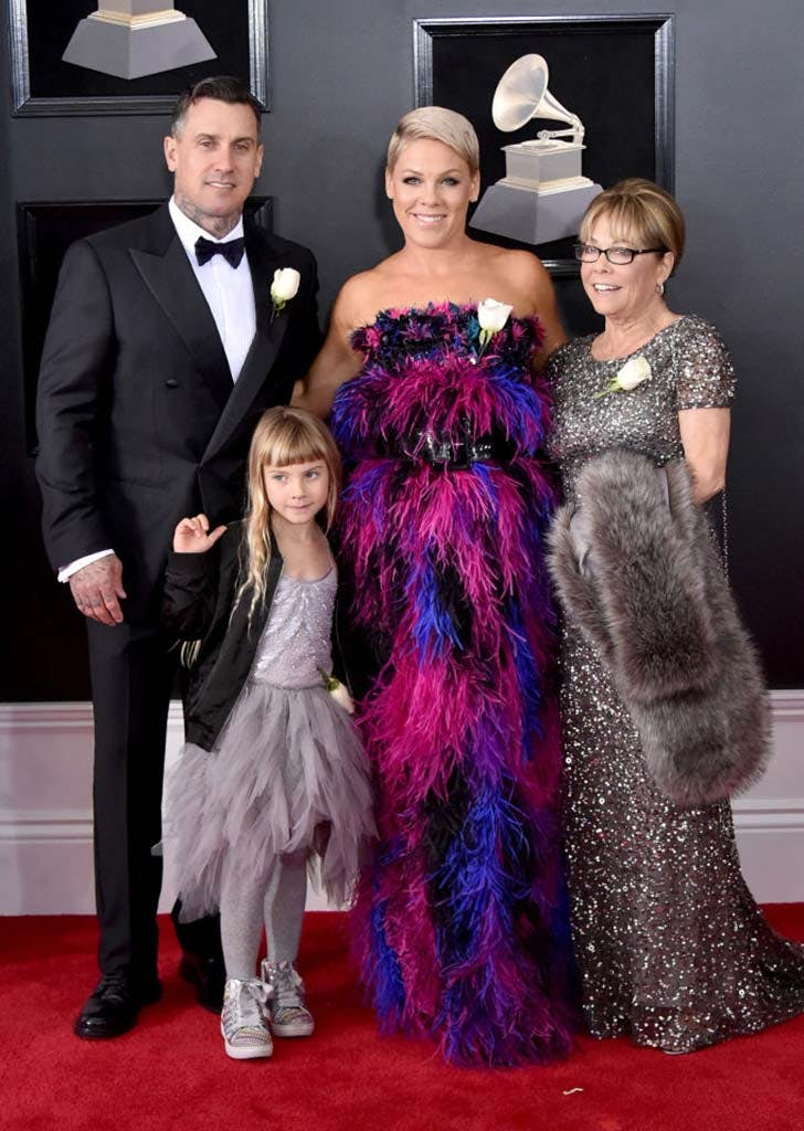 grammys family dates pink