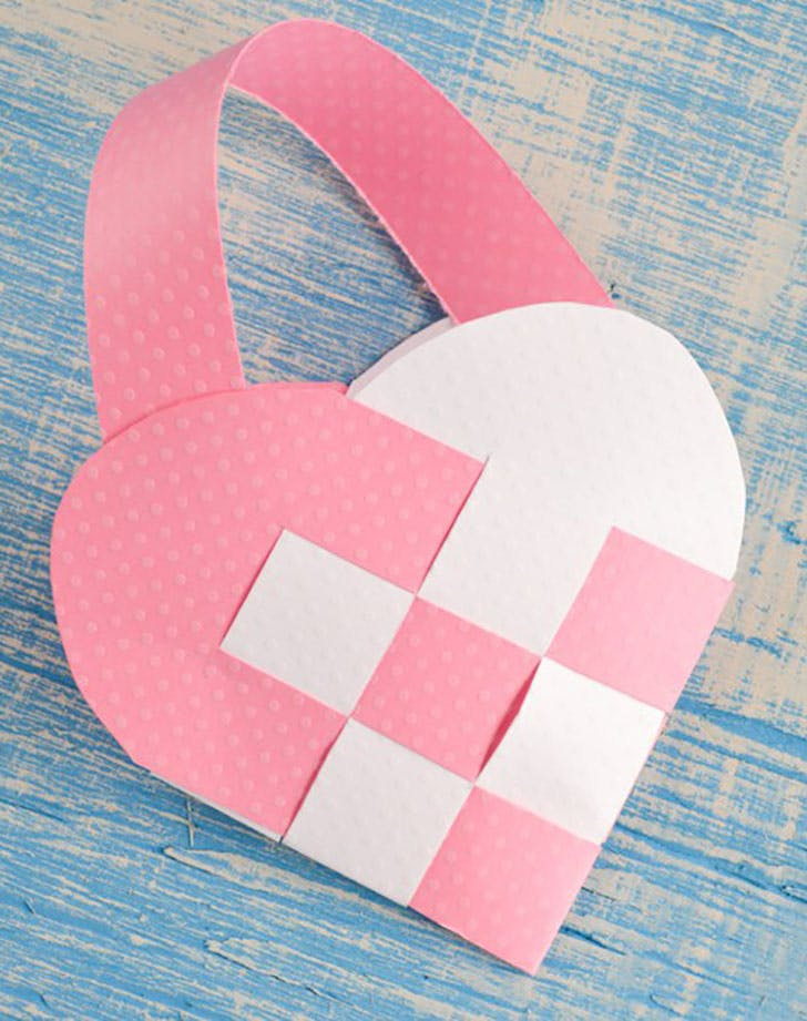 heart basket valentines crafts for kids