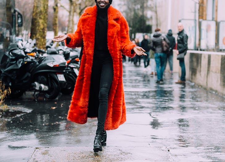 how to wear more color coat