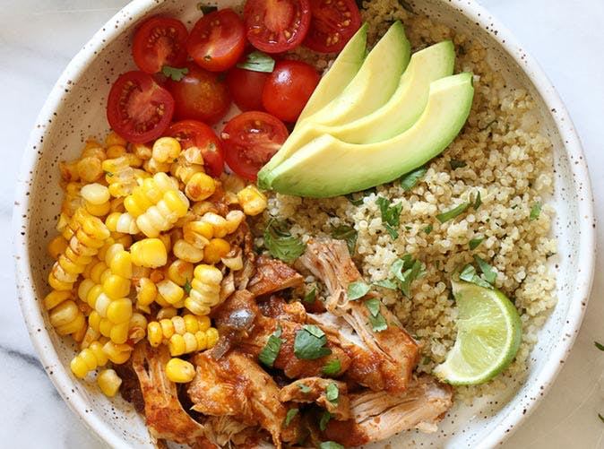 instant pot chipotle chicken bowls cilantro lime quinoa