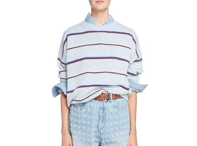 isabel marant etoile gatlin stripe alpaca blend sweater