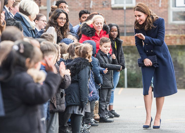 Kate Middleton Wore a Gorgeous Navy Coat for Her First Public Appearance in 2018