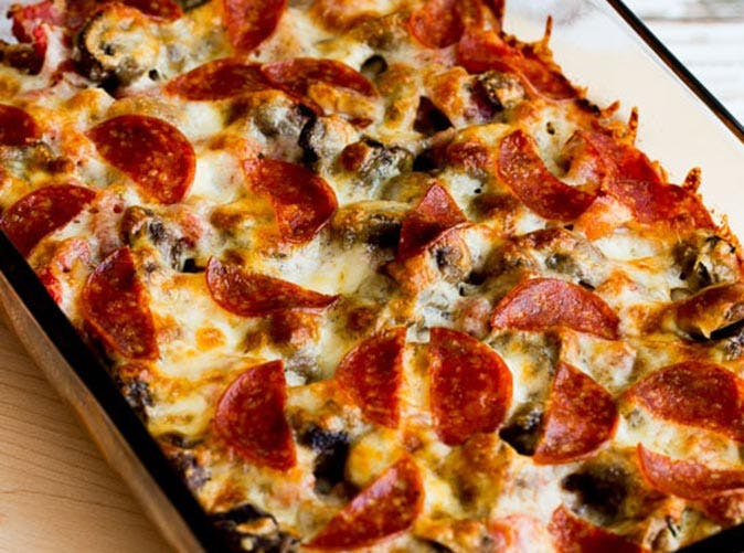 keto pizza casserole