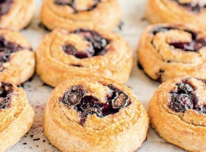 kids allergy free wholemeal blueberry scrolls recipe
