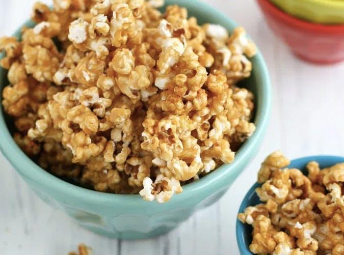 kids nut free vegan caramel corn recipe
