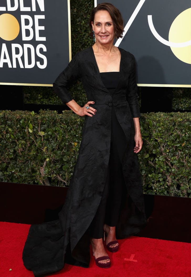 laurie metcalf wearing pants golden globes