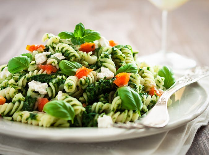 lightened up pastas whole grain pesto recipe