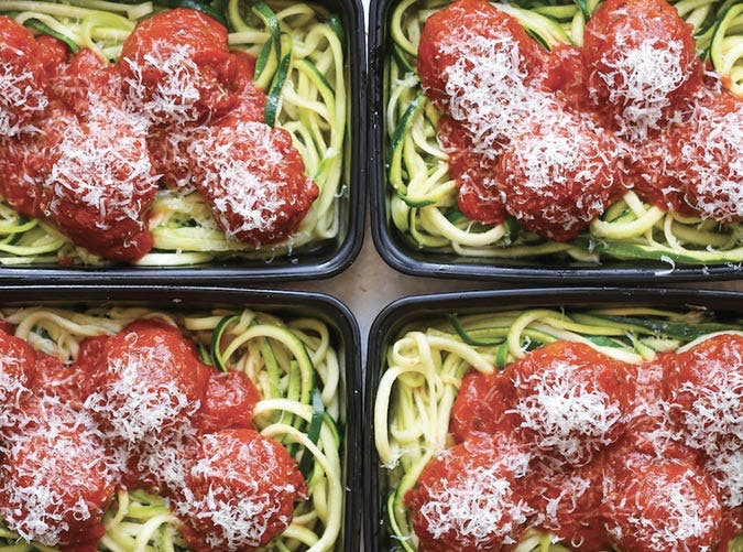 lightened up pastas zucchini noodles turkey meatballs recipe