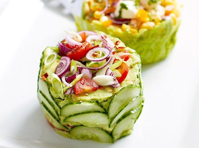 mini salad cakes