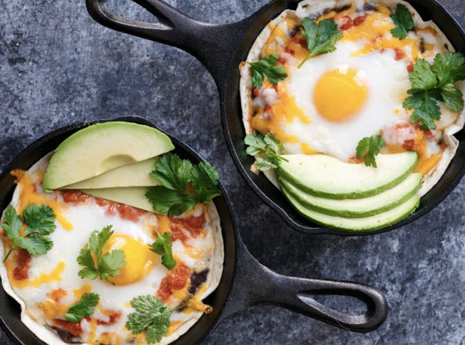 mini huevos rancheros breakfast skillet recipe