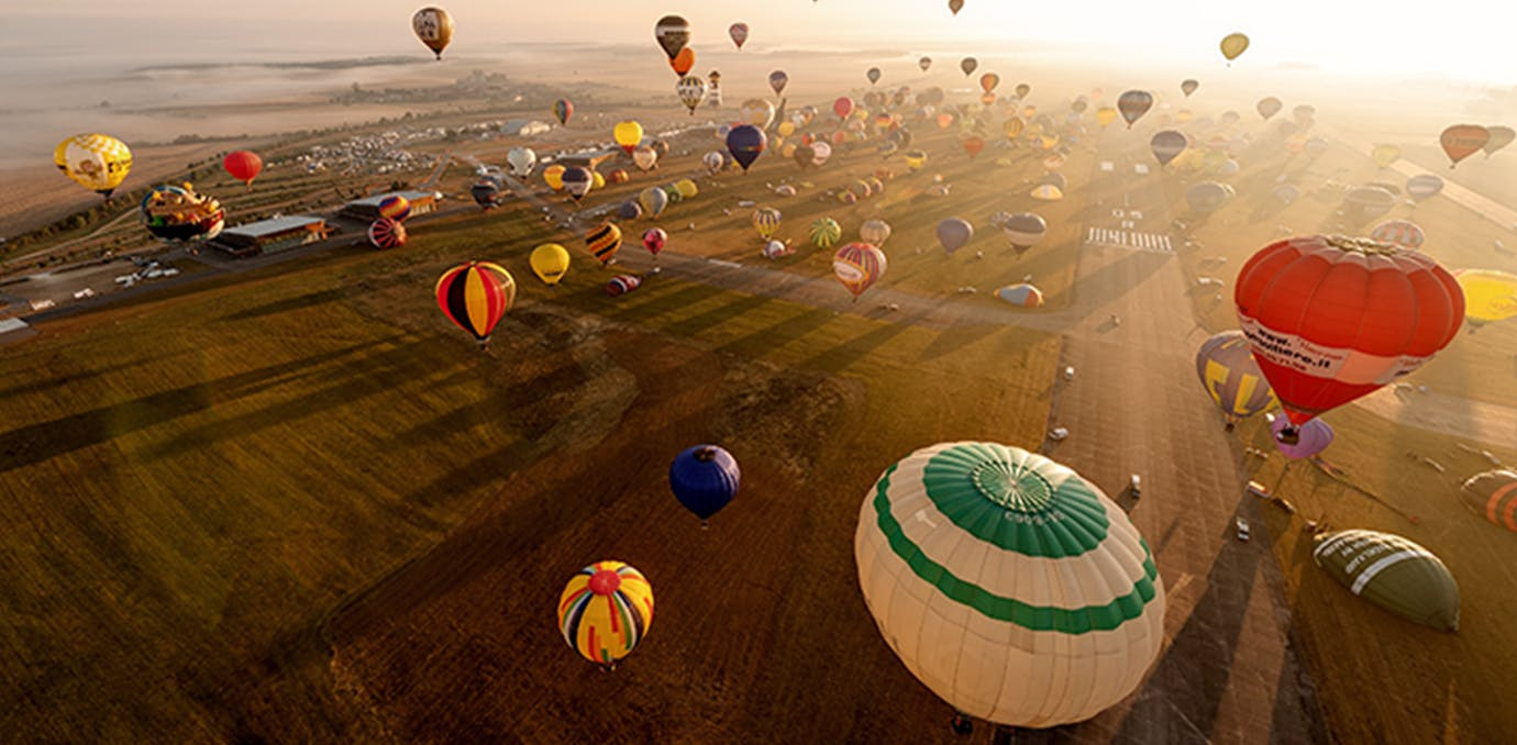 mondial air ballons festival in chambley bussieres france full