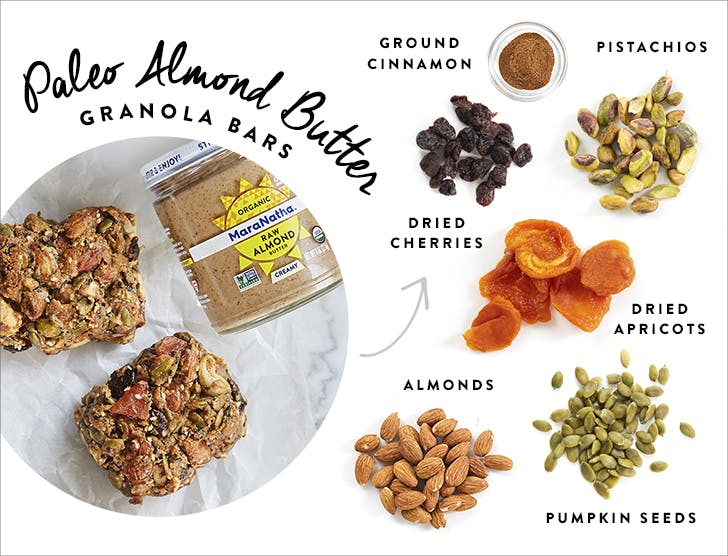 new paleo almond butter granola bars
