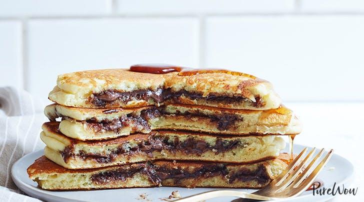 Nutella Stuffed Pancakes Recipe PureWow