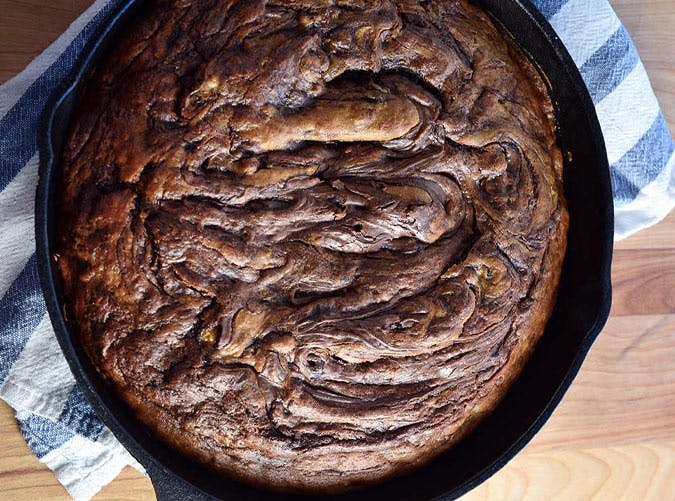 nutella pumpkin bread breakfast skillet recipe