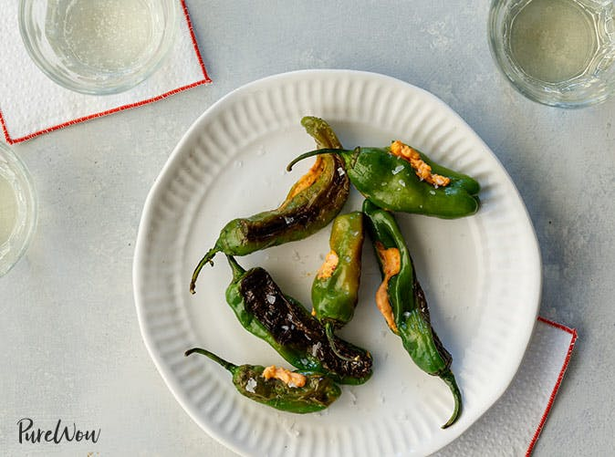 pimiento cheese stuffed shisheto peppers
