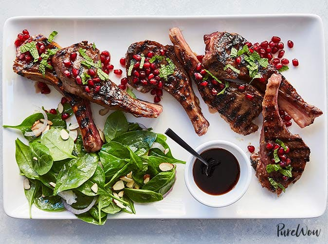 pomegranate maple glazed lamb chops