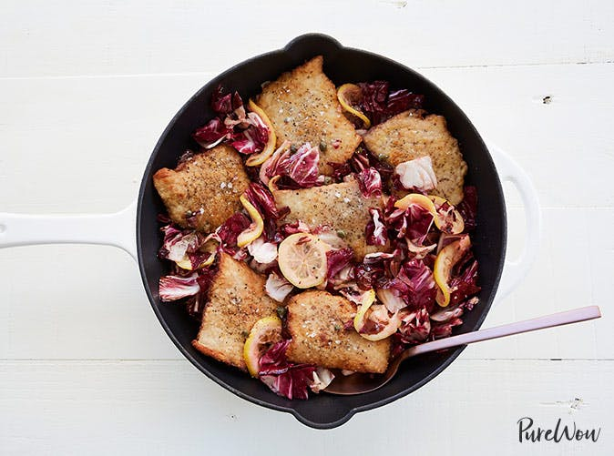 pork scallopini with lemon capers radicchio