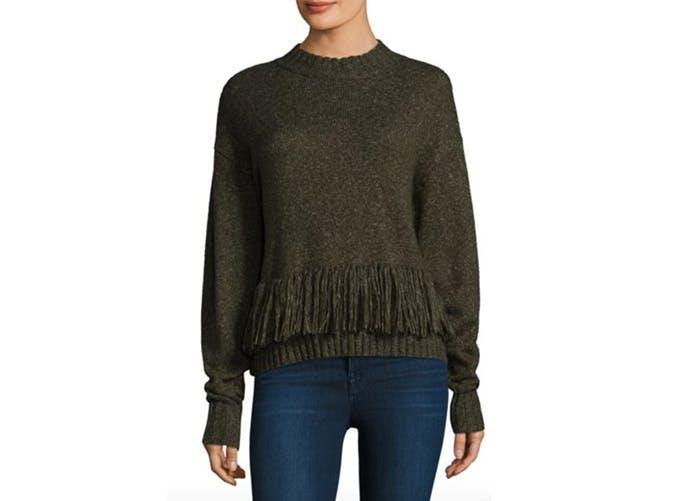 rebecca minkoff neala fringe sweater