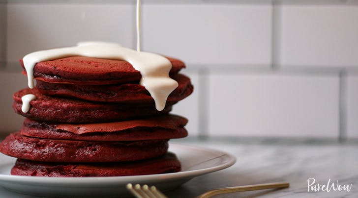 Easy Red Velvet Pancakes