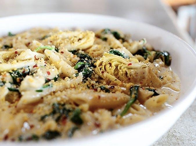 ree drummond comfort food spinach artichoke pasta recipe