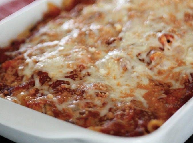 ree drummond cornfort food baked ziti recipe