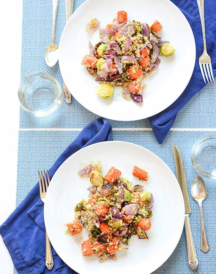 Roasted Brussels Sprouts Quinoa