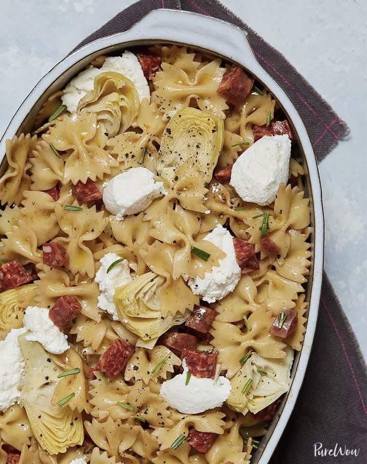 salami ricotta artichoke pasta salad recipe
