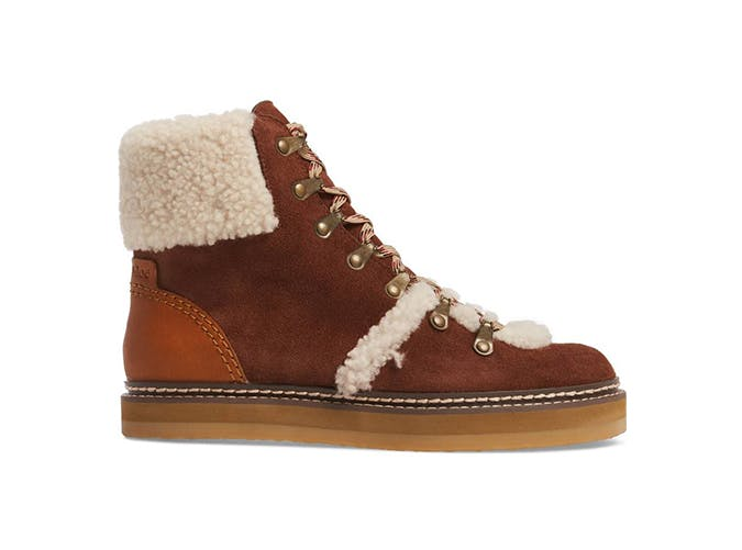see by chloe shearling boot
